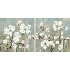 """""""Sweetbay Magnolia"""" by Allison Pearce 2 Piece Painting Print on Wrapped Canvas Set"""