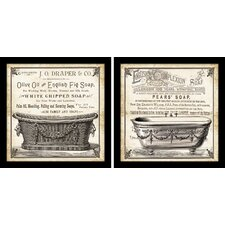"""Old English Tub"" by Tre Sorelle Studios 2 Piece Framed Graphic Art Set"
