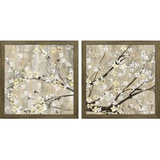 """Pearls in Bloom"" by Asia Jensen 2 Piece Framed Graphic Art Set"