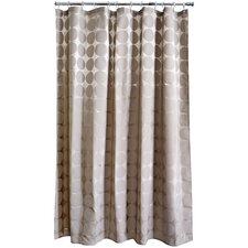 Satin Circles PEVA Shower Curtain