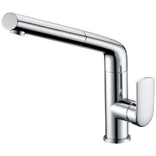 Single Handle Surface Mounted Monobloc Mixer Tap with Pullout Spray