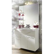 89 cm Einzelwaschbeckenunterschrank-Set mit Spiegel