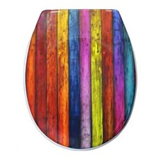 Shabby Stripes Toilet Seat Sticker