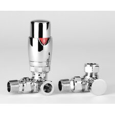 2 Piece Corner Thermostatic Valve Set