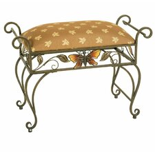 Butterfly Silver Antique Bench