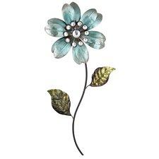 Blue Flower Metal Wall Art