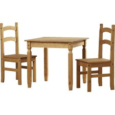Classic Corona Dining Table and 2 Chairs