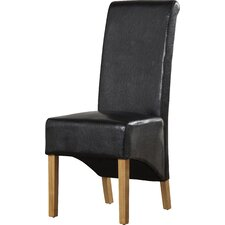 Woodview Solid Oak Upholstered Dining Chair (Set of 2)