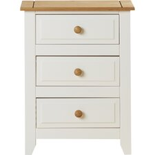 Mystic 3 Drawer Bedside Table