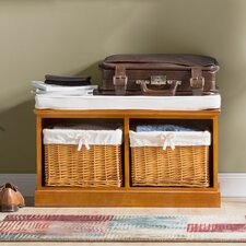 Argyle Wood Storage Entryway Bench