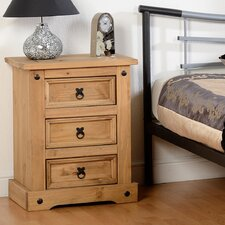 Chase 3 Drawer Bedside Table