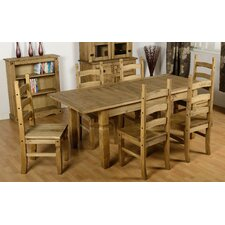 Corona Extendable Dining Table and 6 Chairs