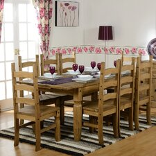 Corona Extendable Dining Table and 8 Chairs