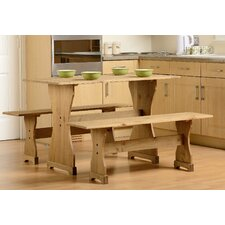 Corona Dining Table and 2 Benches