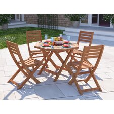 Newbury 5 Piece Dining Set in Brown