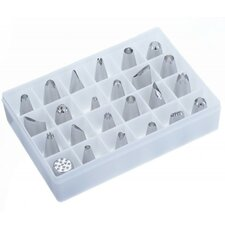 24 Piece Stainless Steel Piping Bag Tip Set