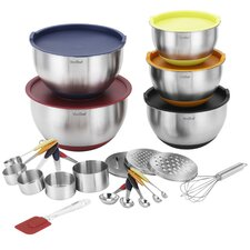 25 Piece Stainless Steel Mixing Bowl Set