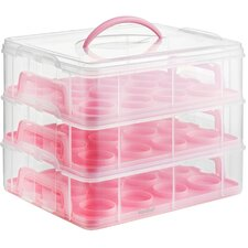 3 Tier Cupcake Holder and Carrier Container