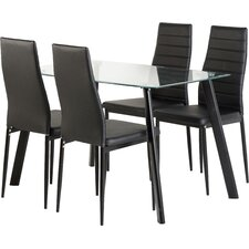 Hillary Dining Table and 4 Chairs