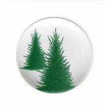 "Conifers 4.5"" Melamine Wine Glass TidBit Topper Plate (Set of 4)"