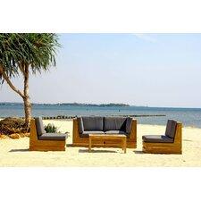 Seaside 5 Piece Deep Seating Group with Cushion