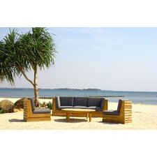 Seaside 6 Piece Deep Seating Group with Cushion