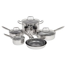 6 Piece Non-Stick Stainless Steel Cookware Set