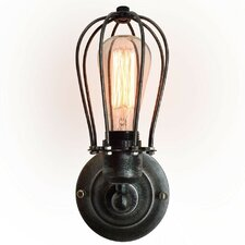 1 Light Squirrel Cage Wall Sconce