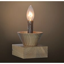 Retro Natural Wooden Candle Light Table Lamp