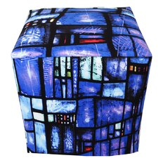 Blues Stained-Glass Ottoman