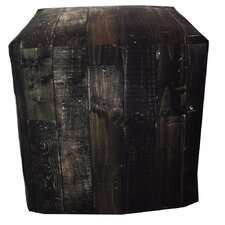 Dark Wood Ottoman