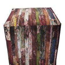 Old Wood Paint Ottoman