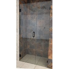 "78"" x 58.5"" Hinged Frameless Glass Shower Door (Wall Hinge)"