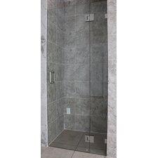 """78"""" x 34.25"""" Hinged Frameless Glass Shower Door (Glass Hinge)"""