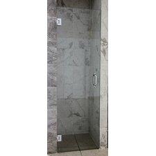"""78"""" x 27"""" Hinged Frameless Glass Shower Door"""