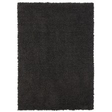 Spaces HomeBeyond© Teddy Shag Charcoal Area Rug