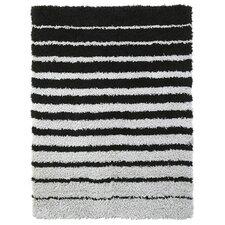 Spaces HomeBeyond© Teddy Shag Black Stripe Area Rug
