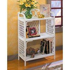 """Pole Rattan 36"""" Accent Shelves Bookcase"""
