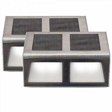 Sunstep Solar Steel Step Light (Set of 2)