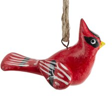 Hand Painted Ceramic Cardinal Ornament (Set of 6)