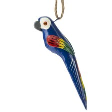 Hand Painted Ceramic Macaw Ornament (Set of 6)