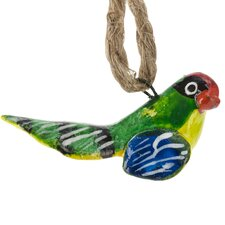 Hand Painted Ceramic Lovebird Ornament (Set of 6)