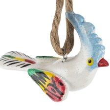 Hand Painted Ceramic Cockatoo Ornament (Set of 6)