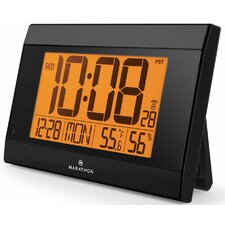 Digital Wall Clock with Temperature and Humidity