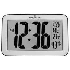 Atomic Self-Setting Self-Adjusting Wall Clock with Stand
