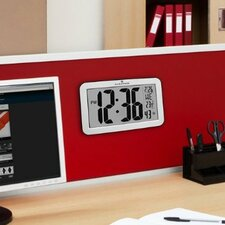 Atomic Self-setting Self-adjusting Wall Clock w/ Stand & 8 Timezones -  Batteries Included
