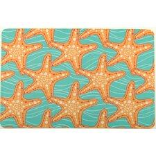 Starfish in Waves Floor Mat