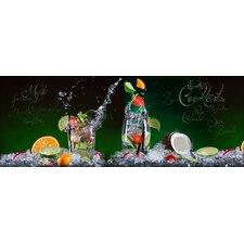 Glasbild Exotic Coctails, Kunstdruck