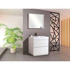 "Bliss 30"" Single Free Standing Modern Bathroom Vanity Set"