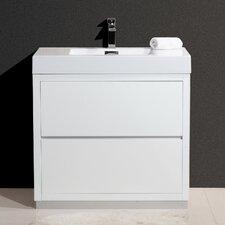 "Bliss 36"" Single Free Standing Modern Bathroom Vanity Set"